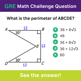 Magoosh GRE Math Challenge Question